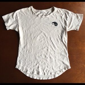 Madewell Whisper Cotton Tee with Smiley Ying Yang
